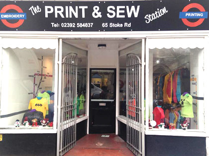 printing and embroidery shop gosport